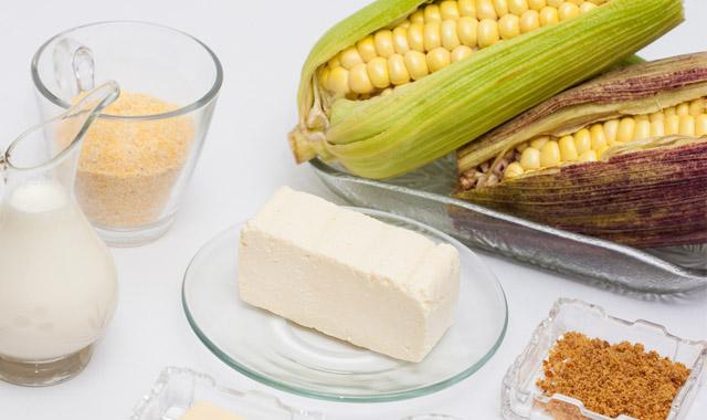 ingredientes receta arepa chocolo
