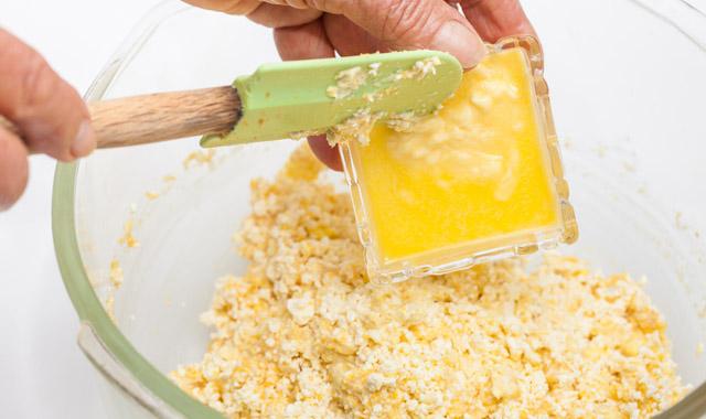 Paso 2: calentar la mezcla y mañadir la mantequilla